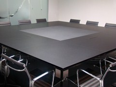 - Square wooden meeting table MARCUS | Square meeting table - JOSE MARTINEZ MEDINA