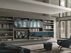 - Sectional wall-mounted lacquered storage wall CROSSING TEKA | Storage wall - MisuraEmme