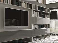 - Sectional lacquered storage wall URBAN | Sectional storage wall - MisuraEmme