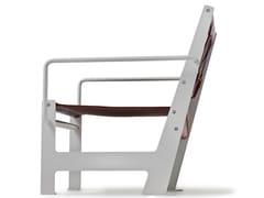 - Leather garden armchair with armrests LOOMCHAIR | Leather easy chair - Nola Industrier