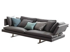 - Leather sofa BORDERLINE | Leather sofa - MisuraEmme