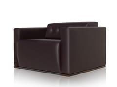 - Leather armchair with armrests WILLIAMS | Armchair - JOSE MARTINEZ MEDINA