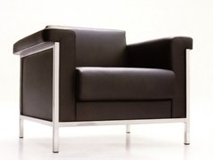 - Leather armchair with armrests MASTER | Armchair - JOSE MARTINEZ MEDINA