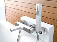 - Bathtub mixer with hand shower ZETA | Wall-mounted bathtub mixer - FIMA Carlo Frattini