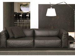 - Leather sofa with integrated magazine rack SITIN | Leather sofa - MisuraEmme