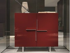 - Lacquered wooden highboard with doors SQUARE | Highboard - MisuraEmme