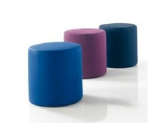 - Upholstered leather pouf UCHI - Bontempi Casa