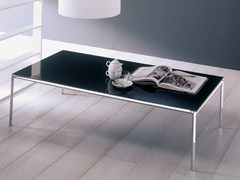 - Low crystal coffee table for living room DIAGONAL | Rectangular coffee table - Bontempi Casa