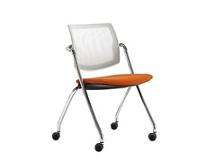 - Mesh chair with casters Q-GO | Chair with casters - Sesta