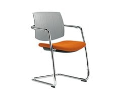 - Cantilever reception chair Q-EASY | Chair with armrests - Sesta