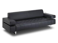 - Tufted 3 seater leather sofa POSEIDONE | Tufted sofa - True Design
