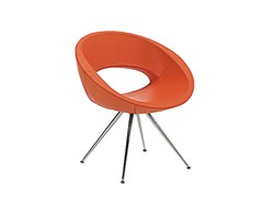 - Trestle-based easy chair with armrests SMILE | Trestle-based easy chair - Sesta