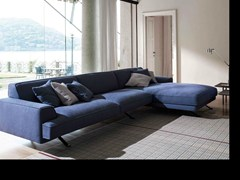 - Corner sofa with removable cover with chaise longue SLAB | Sofa with chaise longue - Bonaldo