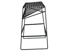 - High sled base stool TWIST 2287 - Zanotta