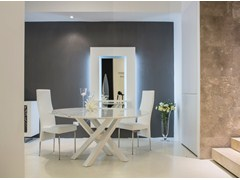 - Round marble dining table SHANGAI | Marble table - RIFLESSI