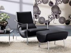 - Armchair with footstool ATUL | Leather armchair - Bontempi Casa