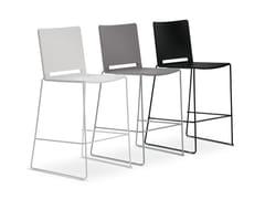 - Sled base stackable polypropylene counter stool FILÒ PLASTIC | Counter stool - Diemmebi