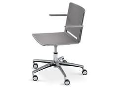 - Polypropylene task chair with armrests FILÒ PLASTIC | Chair with 5-spoke base - Diemmebi
