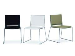 - Sled base stackable chair FILÒ SOFT | Chair - Diemmebi