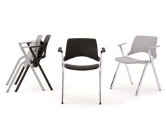 - Stackable folding chair with armrests KENDÒ PLASTIC   Chair with armrests - Diemmebi