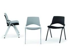 - Stackable folding chair KENDÒ SOFT | Chair - Diemmebi