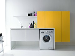 - Sectional lacquered laundry room cabinet with sink IDROBOX | Sectional laundry room cabinet - Birex