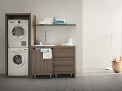 - Elm laundry room cabinet with sink for washing machine IDROBOX | Elm laundry room cabinet - Birex