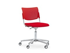 - Waiting room chair with 5-Spoke base with casters LAMIA EASY SOFT | Chair with casters - Diemmebi