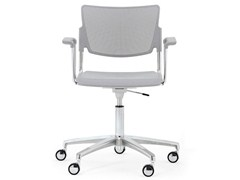 - Chair with 5-spoke base with armrests LAMIA PLASTIC | Chair with 5-spoke base - Diemmebi