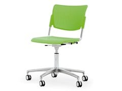 - Chair with 5-spoke base with casters LAMIA PLASTIC | Chair with casters - Diemmebi