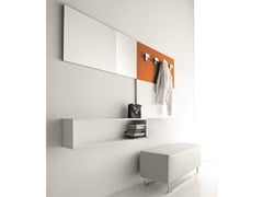 - Sectional lacquered wall-mounted hallway unit CINQUANTA | Wall-mounted hallway unit - Birex