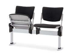 - Beam seating with tip-up seats LAMIA SOFT | Beam seating with tip-up seats - Diemmebi