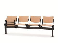- Beech beam seating with tip-up seats LAMIA WOOD | Beam seating with tip-up seats - Diemmebi