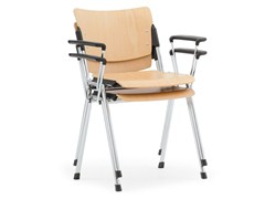 - Beech waiting room chair with Armrests LAMIA WOOD | Waiting room chair with Armrests - Diemmebi