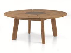 - Round teak table BRICK | Round table - RODA