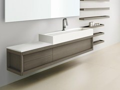 - Wall-mounted ash vanity unit VASCA LUNGA | Wall-mounted vanity unit - GD Arredamenti