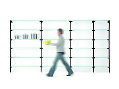 - Open modular tempered glass bookcase BACKUP GLASS - Diemmebi