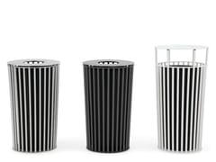 - Outdoor metal waste bin with lid ZEROQUINDICI.015 | Waste bin with lid - Diemmebi