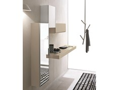 - Wall-mounted sectional lacquered hallway unit LOGIKA | Wall-mounted hallway unit - Birex