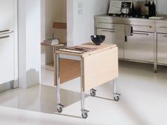 - Drop-leaf table with casters FLASH - Bontempi Casa