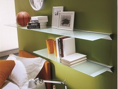- Glass and aluminium wall shelf EIDOS | Wall shelf - Bontempi Casa