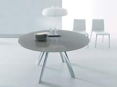 - Extending crystal table GIRO | Round table - Bontempi Casa