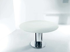 - Extending round table GIRO | Crystal table - Bontempi Casa