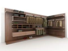 Cabina armadio angolare in legno