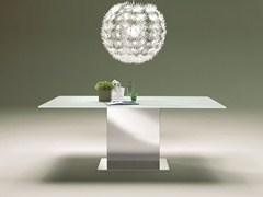 - Rectangular crystal and stainless steel table OASI | Crystal table - Bontempi Casa