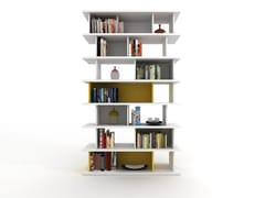 Libreria a giorno componibile modulare