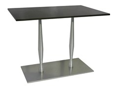 - Rectangular stainless steel contract table SLOGI-84-2-XAS | Stainless steel table - Vela Arredamenti