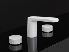 - 3 hole washbasin tap with matt finishing TEXTURE | 3 hole washbasin mixer - FIMA Carlo Frattini