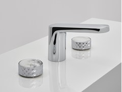- 3 hole washbasin tap with polished finishing TEXTURE | Washbasin mixer - FIMA Carlo Frattini