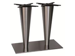 - Stainless steel table base SLIGEL-84-2-X - Vela Arredamenti